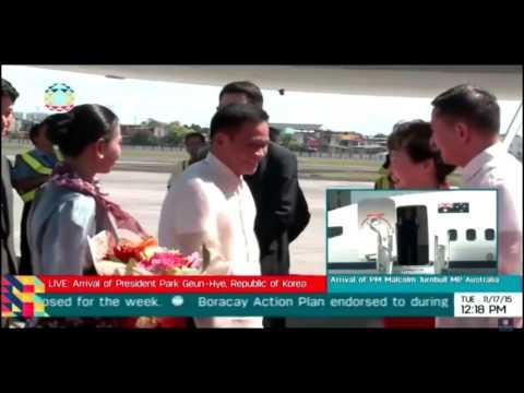 Leaders of South Korea, Australia arrive in Manila