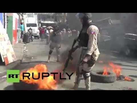 Haiti: Port-au-Prince streets BURN in fresh protests