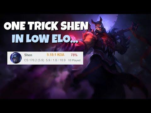One Trick Shen Visiting Low Elo - League of Legends