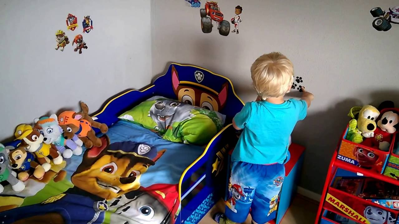 Paw patrol slaapkamer / bedroom - YouTube