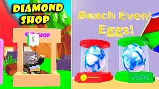 New Beach Eggs + Diamond Update & Make Strongest Radioactive Beach Pets | Blob Simulator 2 [Roblox]