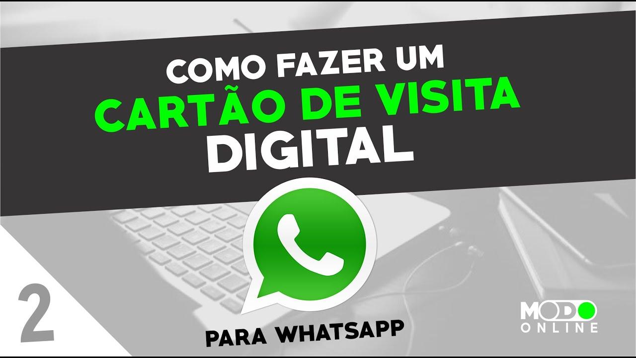 Como Fazer Um Cartão De Visita Digital Para Whatsapp Ou Email Parte 2