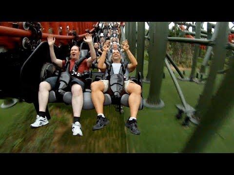Dinoconda POV 4th Dimension Roller Coaster Dinosaurs Park China