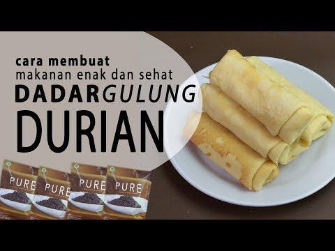 cara-membuat-makanan-enak-dan-sehat-:pure-dadar-gulung-durian
