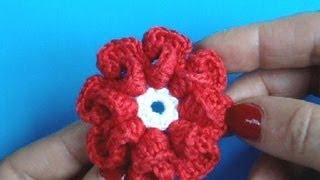 Вязание цветка крючком Урок 9 - How to Crochet flower(ПРЯЖА ОТ ПРОИЗВОДИТЕЛЕЙ ПО ОЧЕНЬ ИНТЕРЕСНЫМ ЦЕНАМ *ТОВАРЫ ДЛЯ РУКОДЕЛИЙ из КИТАЯ* http://aliexpress.beadsky.com knitting..., 2013-02-15T11:25:47.000Z)
