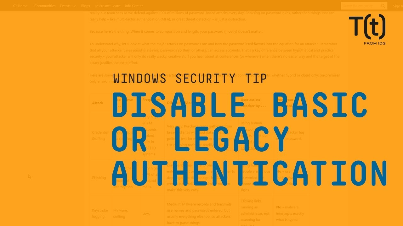 How to disable legacy authentication in Microsoft Exchange