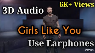 Download Lagu 3D Audio / Maroon 5-Girls like you ft. Cardi B / Use  Earphones Mp3