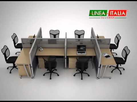 1 escritorio m ltiples soluciones muebles para oficina for Modulos para oficina