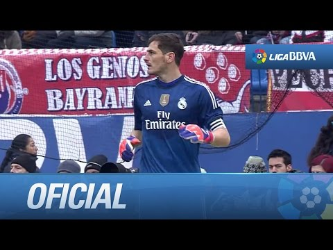 Duro partido para Casillas, Atlético de Madrid (4-0) Real Madrid - 동영상
