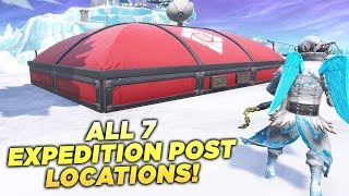 """ALL 7 EXPEDITION OUTPOST LOCATIONS! """"Eliminate Opponents at all Expedition Outposts"""" Fortnite Week 4"""