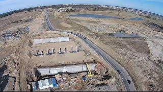 Obwodnica Olsztyna w budowie - część południowa - dron