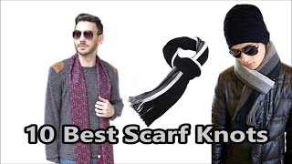 How to tie a Scarf video for men | Top 10 Man Scarf Knots | Encyclopedia of Popular Knots