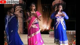Teri Aakhya Ka Yo Kajal Dance By School Girls || Group Dance Sapna Choudhary Songs || A to Z Sangam
