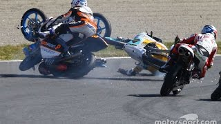 Moto3 2016 ALL CRASHES COMPILATION