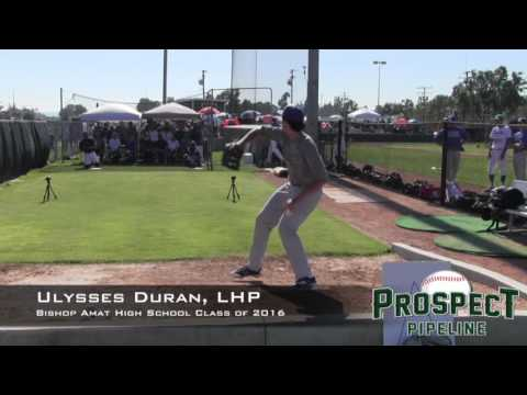 Ulysses Duran Prospect Video, Bishop Amat High School Class of 2016