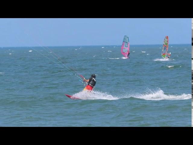 8月26日の小松海岸カイトボード