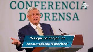 El presidente Andrés Manuel López Obrador respaldó que la FGR abriera una investigación en contra de los candidatos del PRI, Adrián de la Garza, y MC, Samuel García, al gobierno de Nuevo León