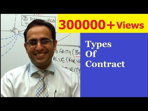 Types of Contract (Part 1)  || Mercantile Law Lectures for CA,CS,CMA