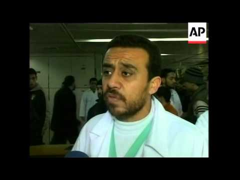 Doctors at Gaza's main hospital, Shifa, treat victims of bloodshed
