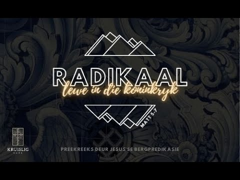 2021.02.21 - Radikaal #2 (Matt 5:3) / Waldo Kruger