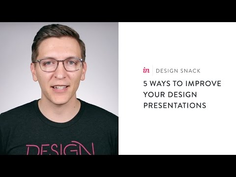 How to improve design presentations - InVision Design Snack #14