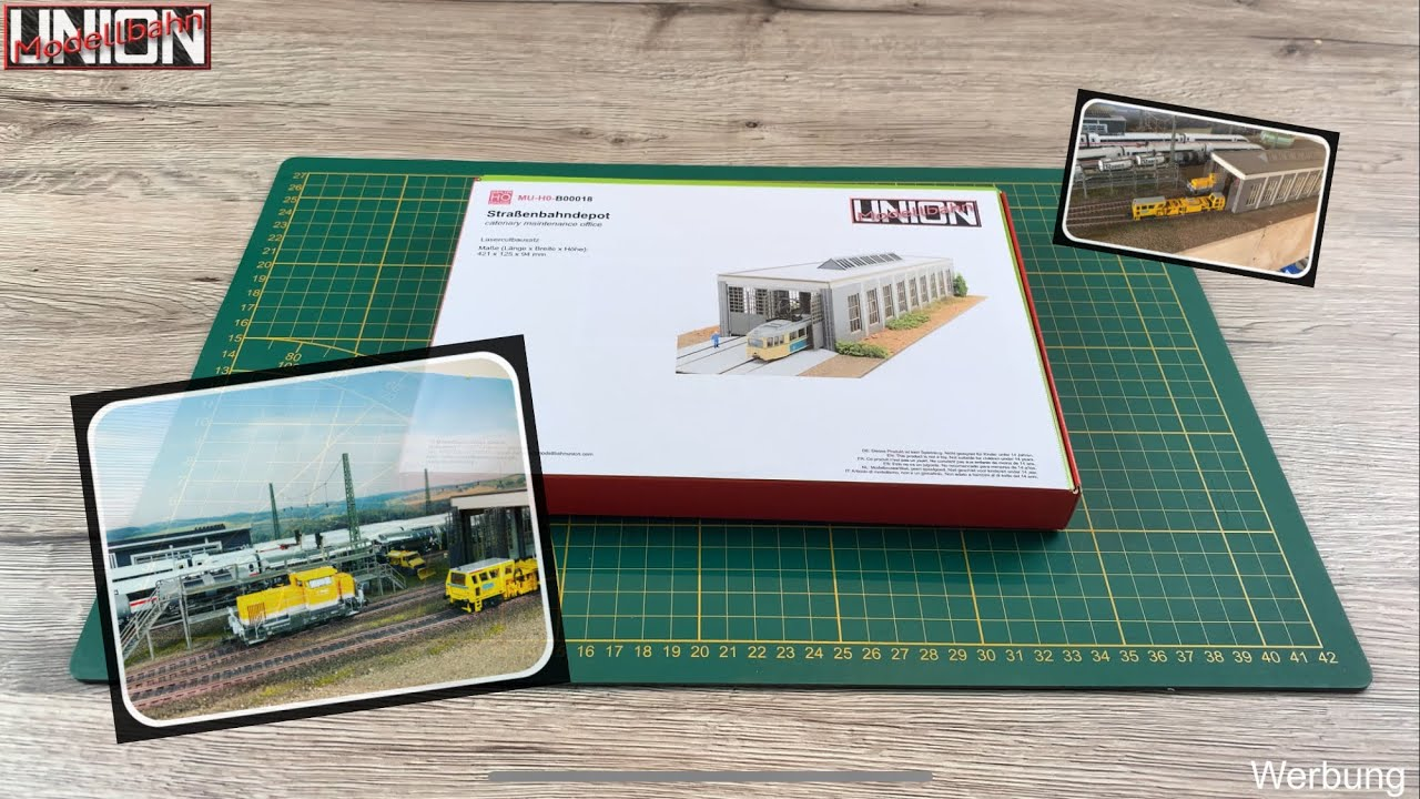Modellbahn Union H0 Stra/ßenbahndepot Fahrzeughalle