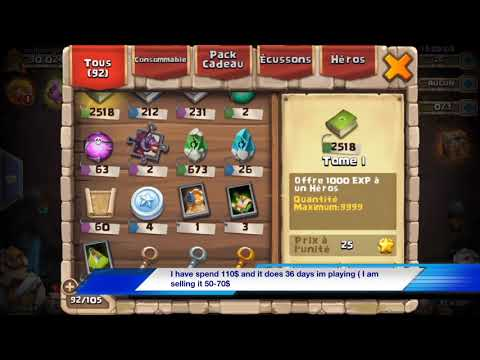 SELLING CASTLE CLASH ACCOUNT !!