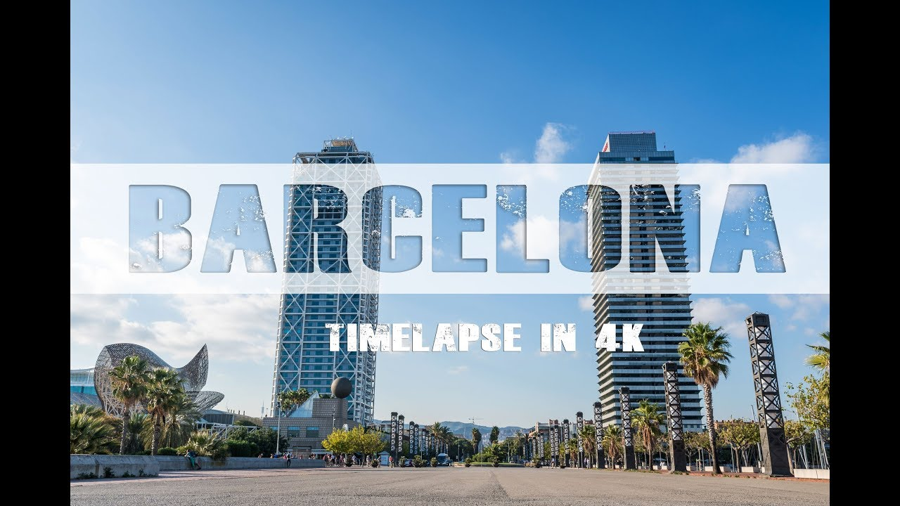 Barcelona timelapse 4k | The beautiful city