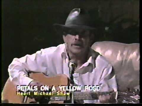 Tribute Song Petals On Yellow Rose By Michael Shaw