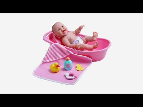 JC Toys La Newborn Realistic Baby Doll Bathtub