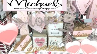 Michaels Valentine Decor Shop with Me!