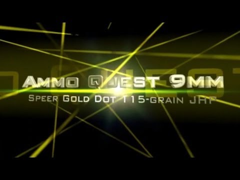Ammo Quest 9mm:  Gold Dot 115gr test in ballistics gel and denim