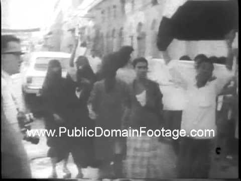 Students protest in the British colony of Aden South Arabia 1967 newsreel archival footage