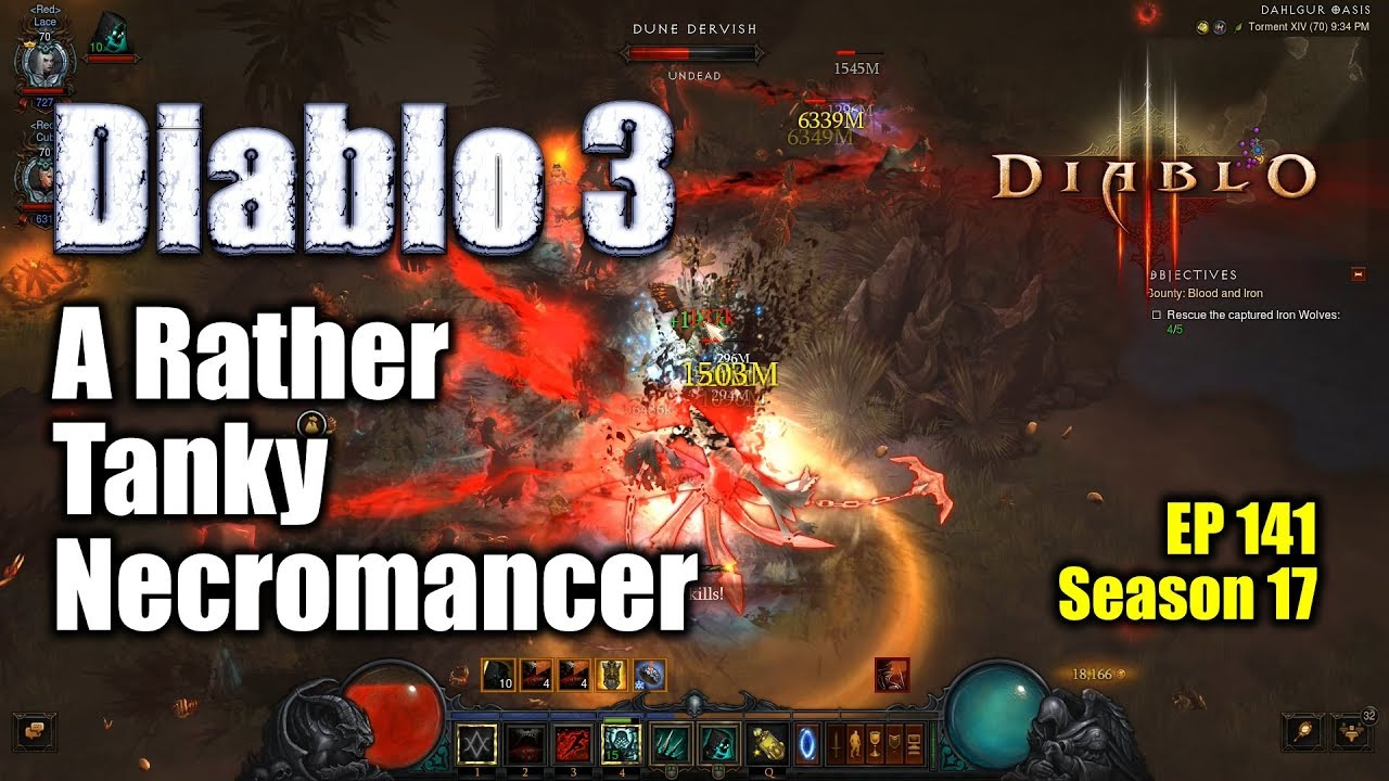 [Diablo 3] A Rather Tanky Necro for Bounty / Avarice Conquest (Season 17)