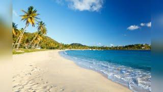 Rygin King at beach in Antigua