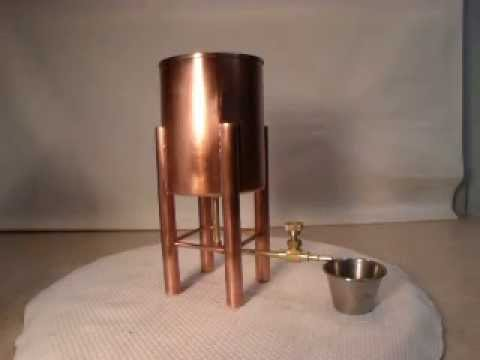 Copper water feed tower for live steam engine