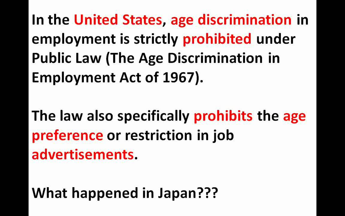 age discrimination employment essay View this term paper on age discrimination the face of now that we understand what discrimination is and what are some of its various prevalent faces and forms.