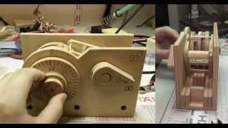 How a (wooden CNC machined) combination lock works