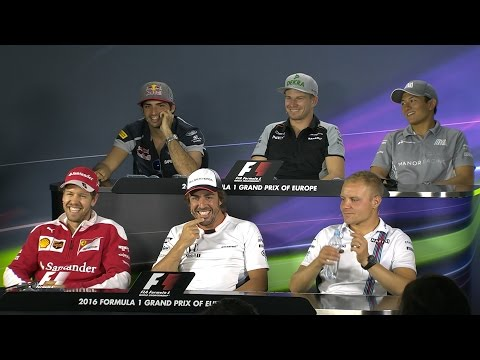 The Drivers Face The Press | European Grand Prix 2016