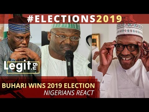 INEC announces Buhari as 2019 election winner, Nigerians react | Legit TV
