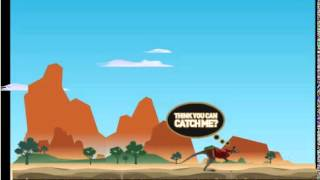 Бесплатные игры онлайн  Догони кенгуру, игра гонка на тачке