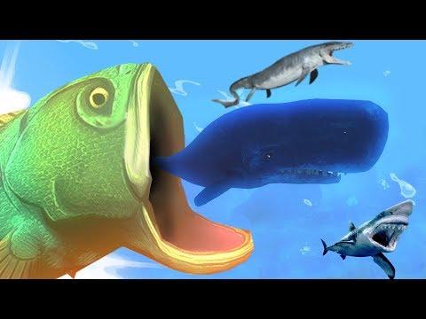 ОКЕАН СТАЛ ДЛЯ МЕНЯ МАЛ! ПРОГЛОТИЛ КИТА ЦЕЛИКОМ! FEED AND GROW FISH