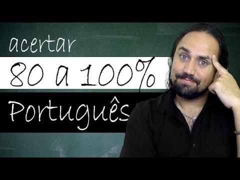 Como acertar de 80 a 100% da Prova de Português