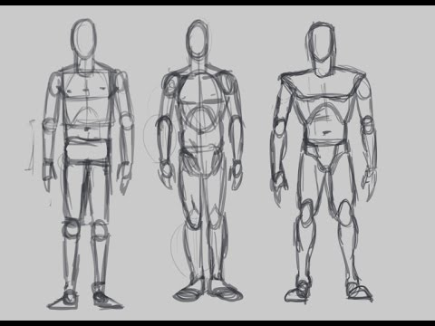 3 Ways to Draw the Structure of the Body (Figure Drawing)