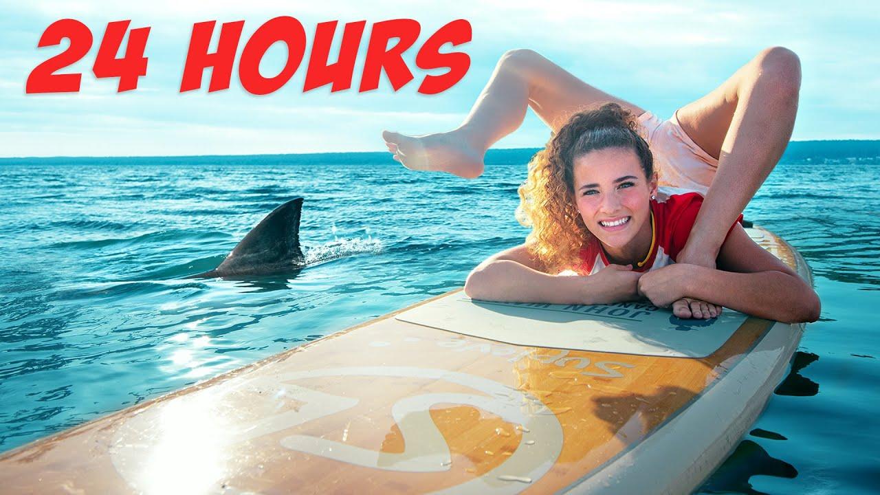 SURVIVING 24 HOURS In The OCEAN *Bent in Half*