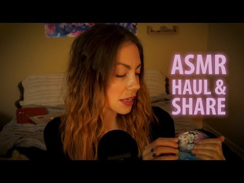 ASMR: HAUL & SHARE, TO HELP YOU SLEEP.