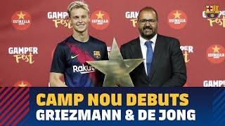We follow De Jong and Griezmann on their Camp Nou debut against Arsenal.