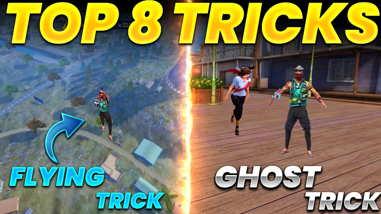 Top 8 unknown Tricks To surprise your friends and enemies | Ghost Trick and flying Trick afterupdate