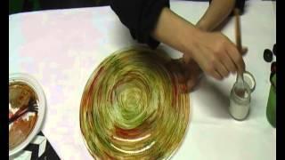 Tutorial natalizio colori per il vetro e foglia oro arte  e creatività di Carmen Pellecchia