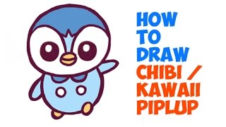 How to Draw Piplup (Chibi / Kawaii Style)